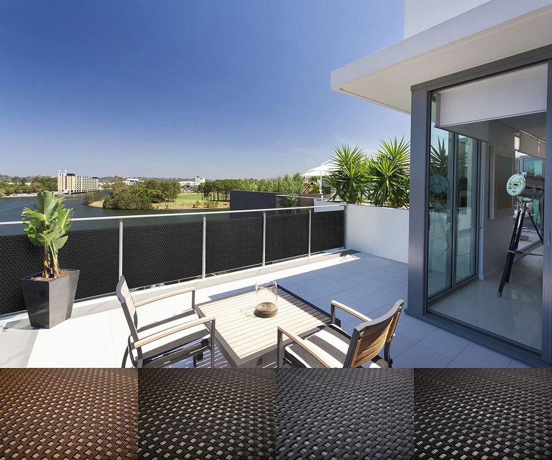 Mayaadi Home Rattan Balkon Und Terrassen Sichtschutz Inkl
