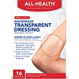 All Health Clear Waterproof Transparent Dressing Wound Cover, 16 Dressings, 2.36 in X 2.75 in
