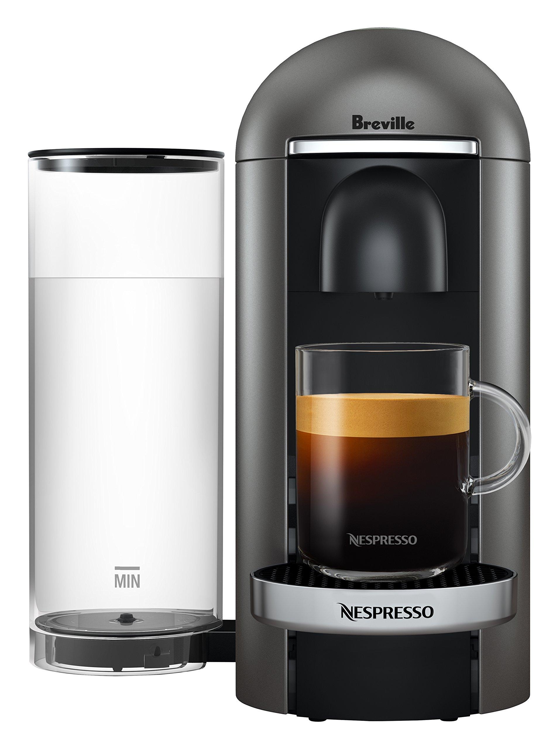 Nespresso VertuoPlus Deluxe Coffee and Espresso Maker by Breville, Titan