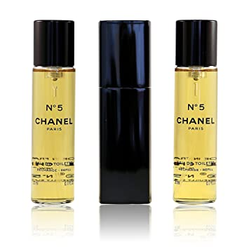 70cd36fdb69f Chanel No 5 Eau de Toilette Purse Spray 3 x 20ml: Amazon.co.uk: Beauty