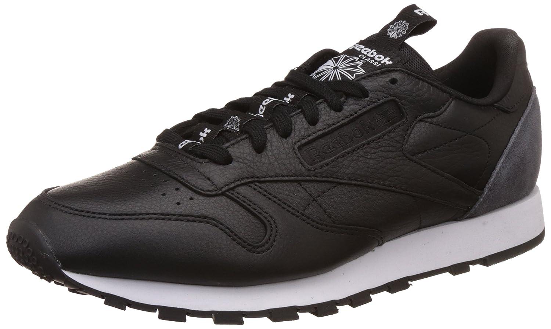 Reebok Herren Classic Lthr It Bs6210 Sneaker  445 EU|Schwarz (Black/Coal/White)