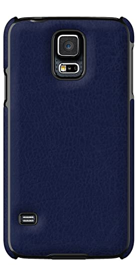 uk availability 8d2ec 71977 Adopted Leather Cell Phone Case for Samsung Galaxy S5 - Retail Packaging -  Navy/Deep Navy