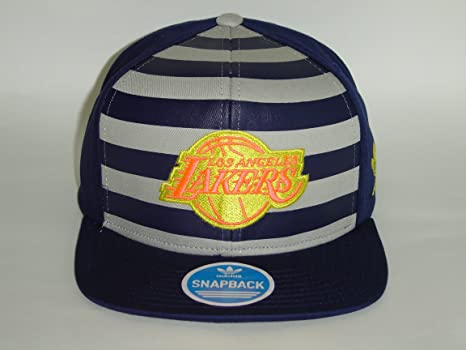 Image Unavailable. Image not available for. Color  Adidas NBA Los Angeles  Lakers Navy Orange Logo 2 Tone Snapback Cap b0df758c1