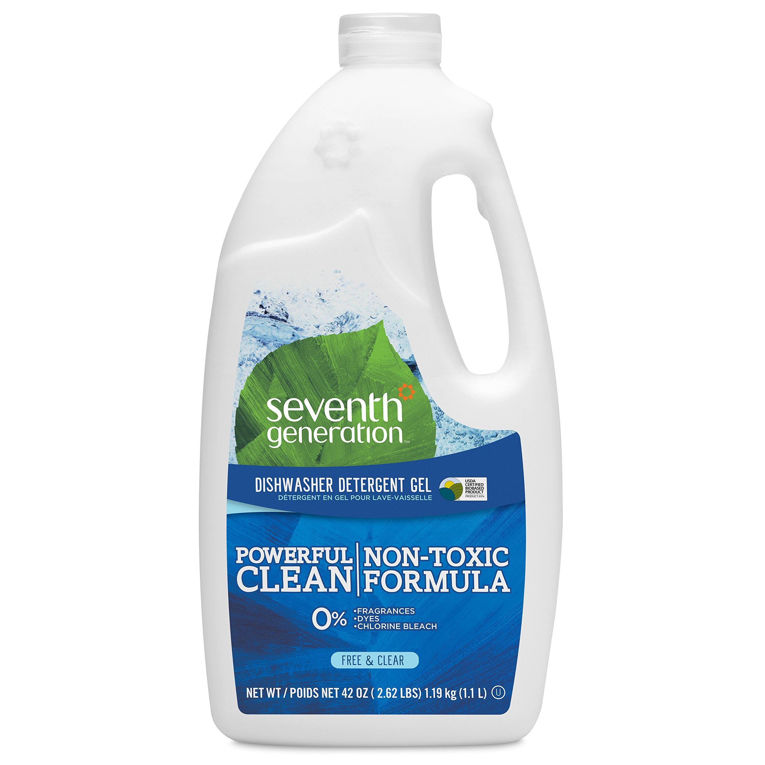 Seventh Generation Dishwasher Detergent Gel, Free & Clear, 42 oz (Pack of 6)