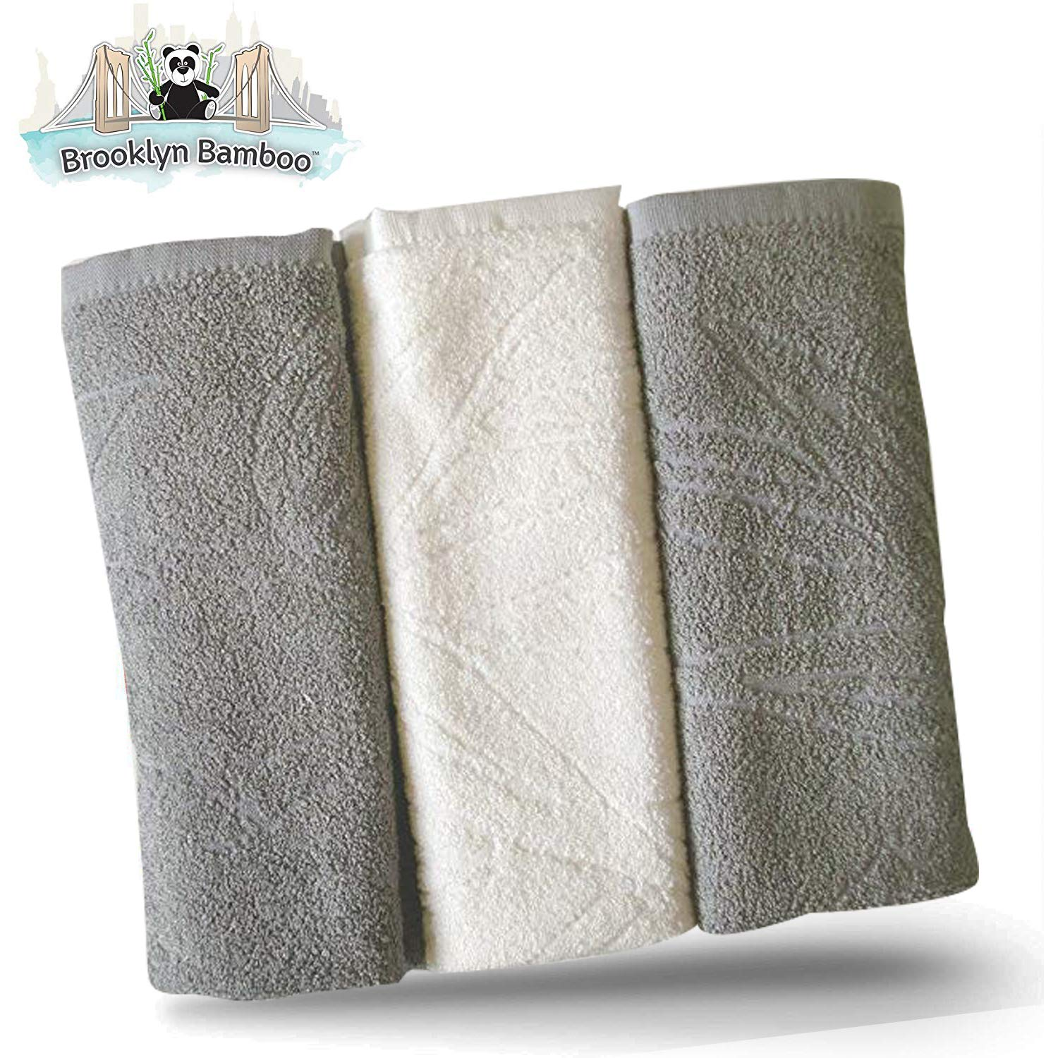 Brooklyn Bamboo Kitchen Dish Towels Soft Reusable Absorbent Organic Eco  Friendly More Durable Than Cotton, 26 x 18 Inches, Pack of 3, Grey
