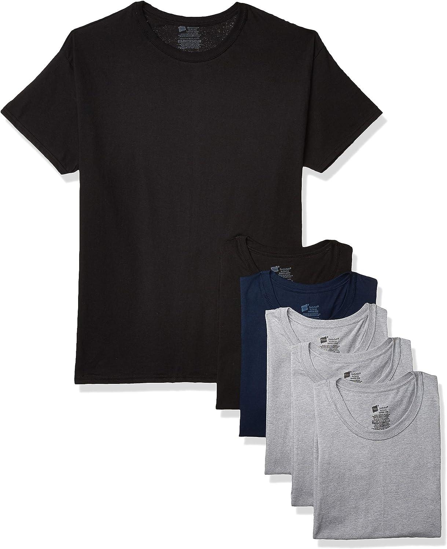 Hanes Mens White Crew Neck T-Shirt Fresh IQ Tagless Cotton ~ Size Small ~ 6 Pack