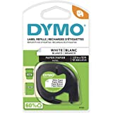 "DYMO LetraTag Labeling Tape, Label Makers, Black Print on White Paper, 1/2"" W x 13' L, 1 Cassette"