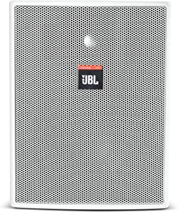 JBL Professional C25AV-LS-WH Compact Indoor Outdoor 5.25-Inch Life Safety Application Loudspeaker, White