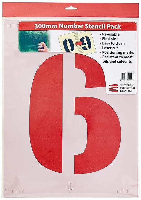 2 opinioni per Scan 9416- Kit di stencil per numeri, 300 mm