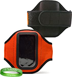 Elegant OEM VG Brand (ORANGE) Armband with Sweat Resistant lining for Newest Apple iPod Touch with iOS 5 (Black & White 8GB, 32GB, 64GB) + Live Laugh Love VanGoddy Wrist Band!!!