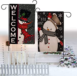 snow keychain Snowman Garden Flag,2PCS Christmas Garden Flag Outdoor Xmas Flags Christmas Garden Flags 12 x 18 Double Sided Winter Yard Decorations
