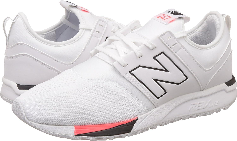 New Balance Hombres Blanco / Negro 247 Classic Zapatillas