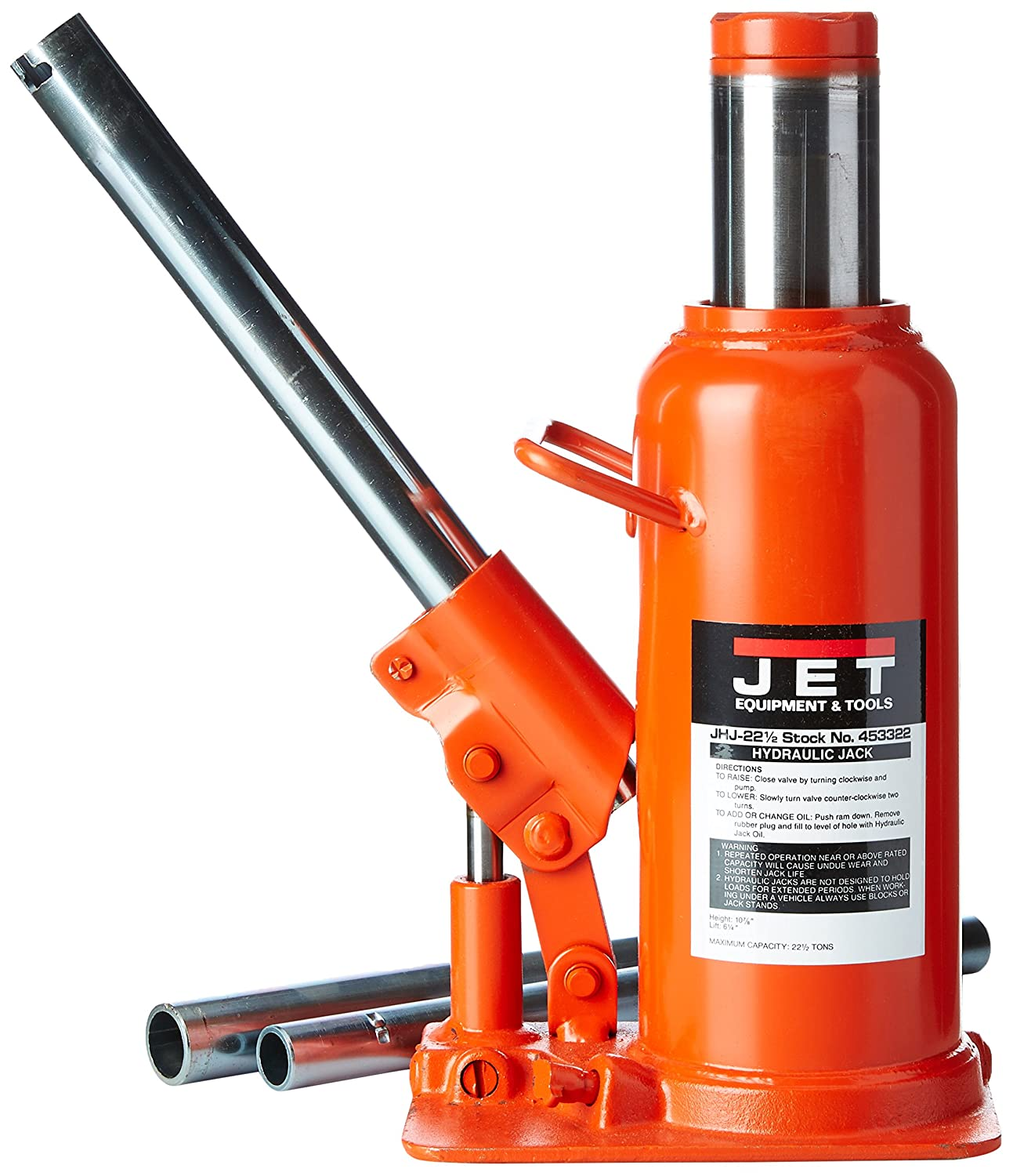 JET 453322 22-1//2-Ton Capacity Heavy-Duty Industrial Bottle Jack WMH Tool Group