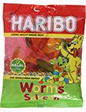 HARIBO Halal Fruit Flavour Worms, Halal Sweets, 100g