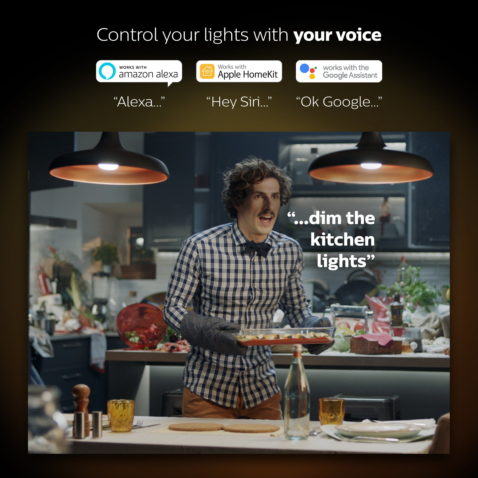 Philips Hue 2-Pack White Ambiance 60W Equivalent Dimmable LED Smart Bulb (Works with Alexa Apple Homekit and Google Assistant) by Philips Hue (Image #5)