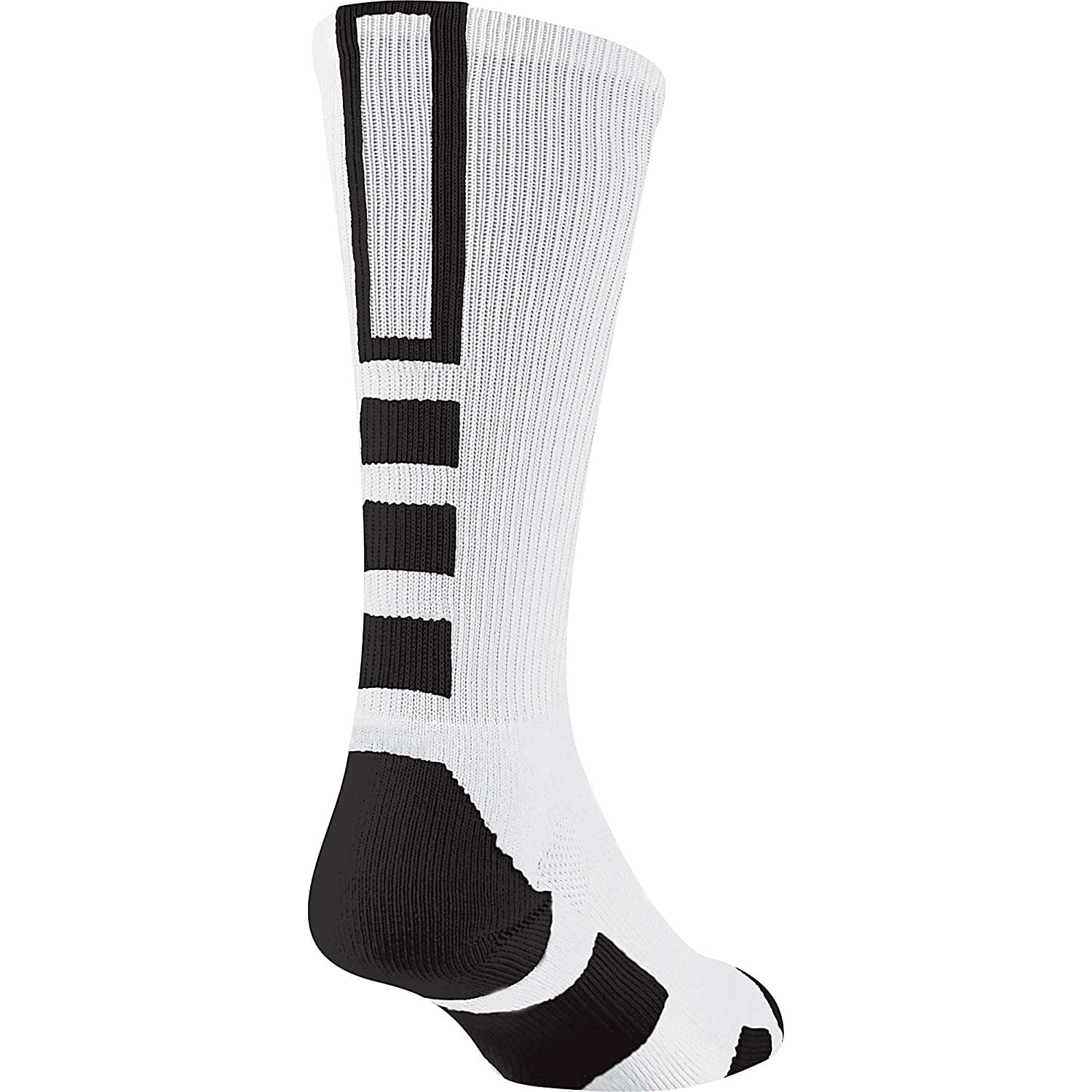 Baseline 2.0 Athletic Crew Socks (White/Black, Small) TCK Sports