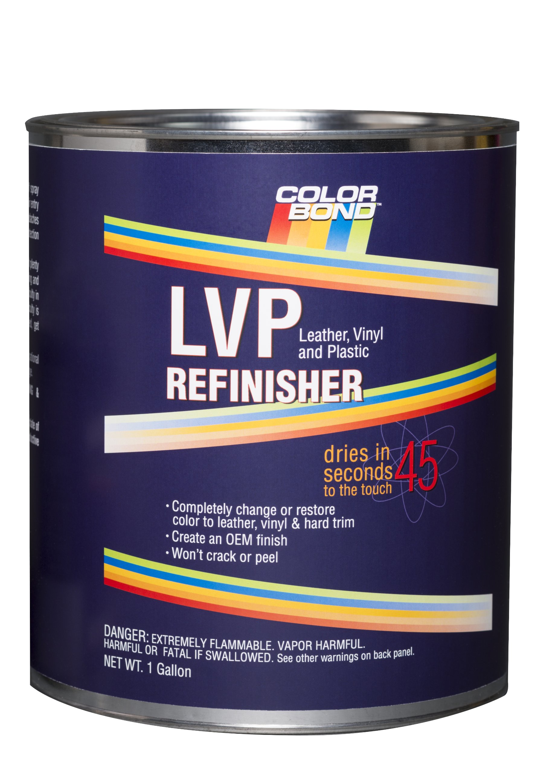 ColorBond (1239) Black LVP Leather, Vinyl and Plastic Refinisher Mixing Base Paint - 1 Gallon by Colorbond