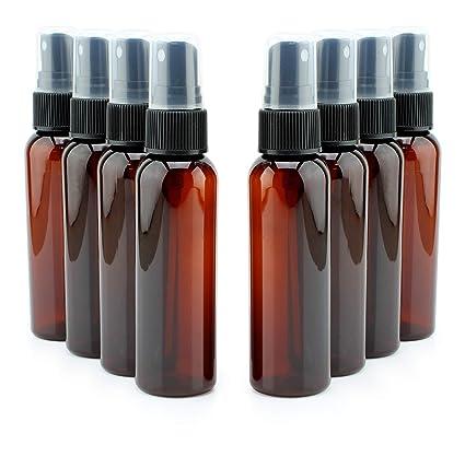 Amazon.com: Botellas pulverizadoras de plástico ámbar de 2 ...