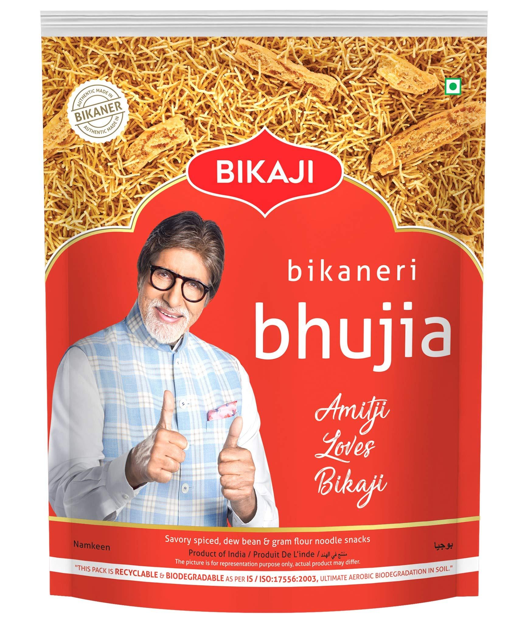 Bikaji Aslee Bikaneri Vegetarian Indian Namkeen Snack Spicy Sev (1 Kg)