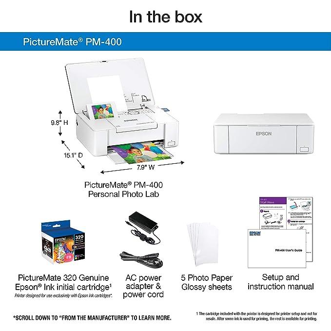 Amazoncom Epson Picturemate Pm 400 Wireless Compact Color Photo