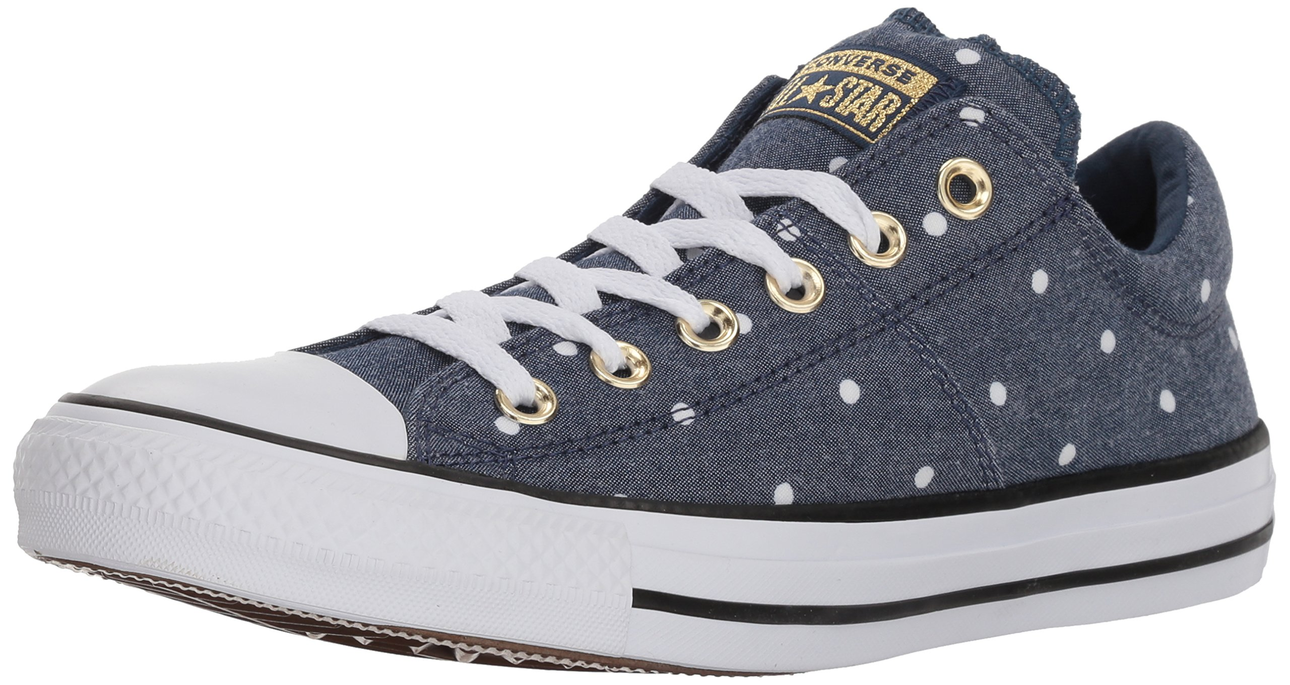 Converse Women's Madison Mini Dots Low Top Sneaker, Navy/Gold/White, 8 M US