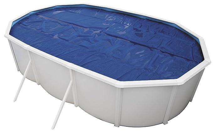Poolomio Solarfolie Poolfolie f/ür ovalen Pool 7,3 x 3,7 Meter Solarplane 400 m/µ als Poolheizung Premium-Poolabdeckung