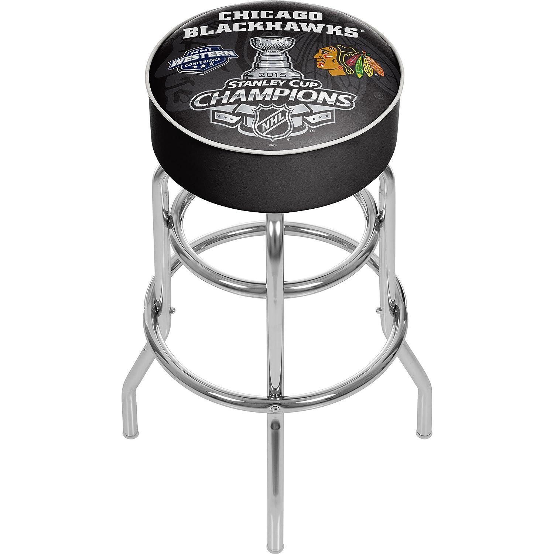 Trademark Gameroom 2015 Stanley Cup Champs Chicago Blackhawks Swivel Bar Stool