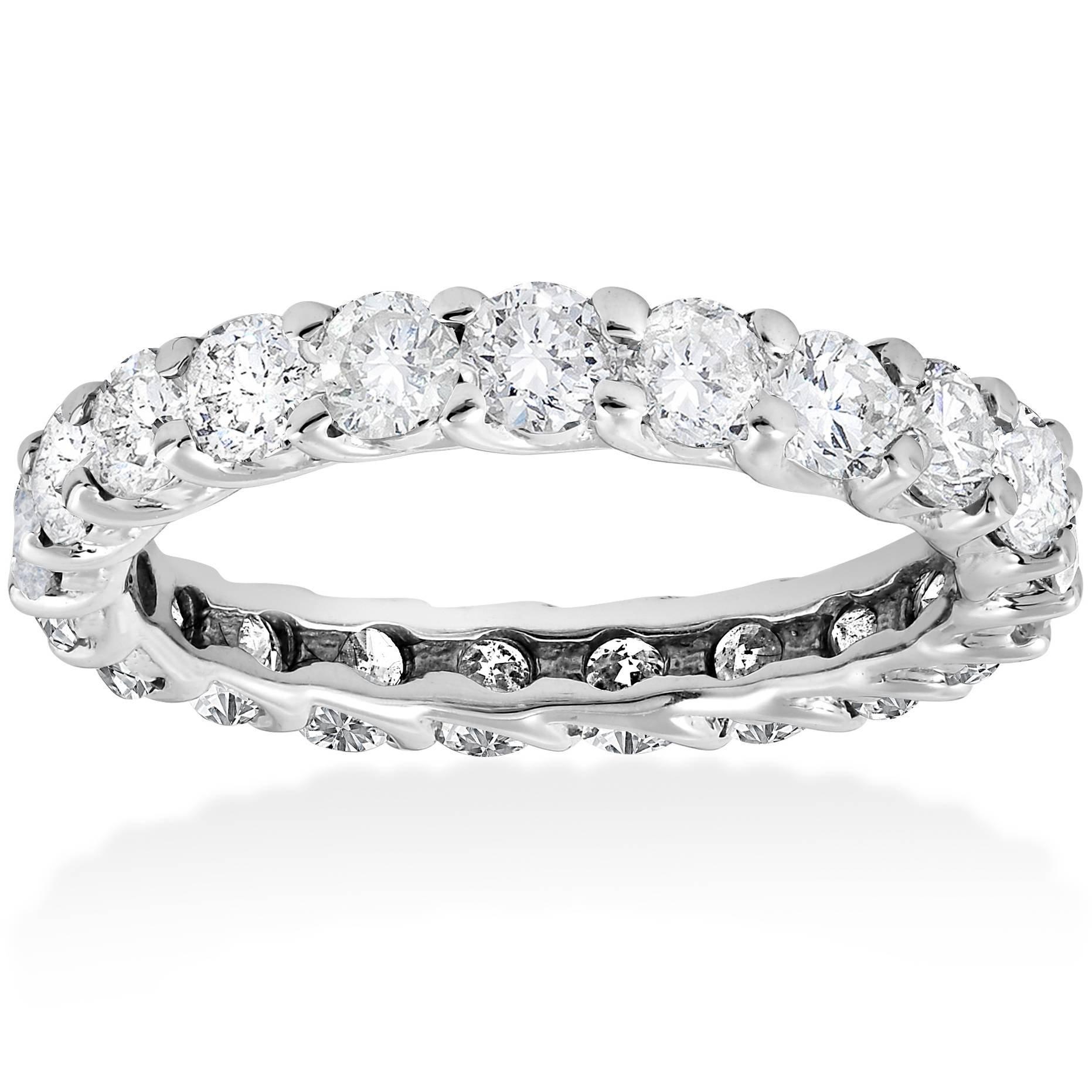 3ct Trellis Diamond Eternity Ring 14K White Gold