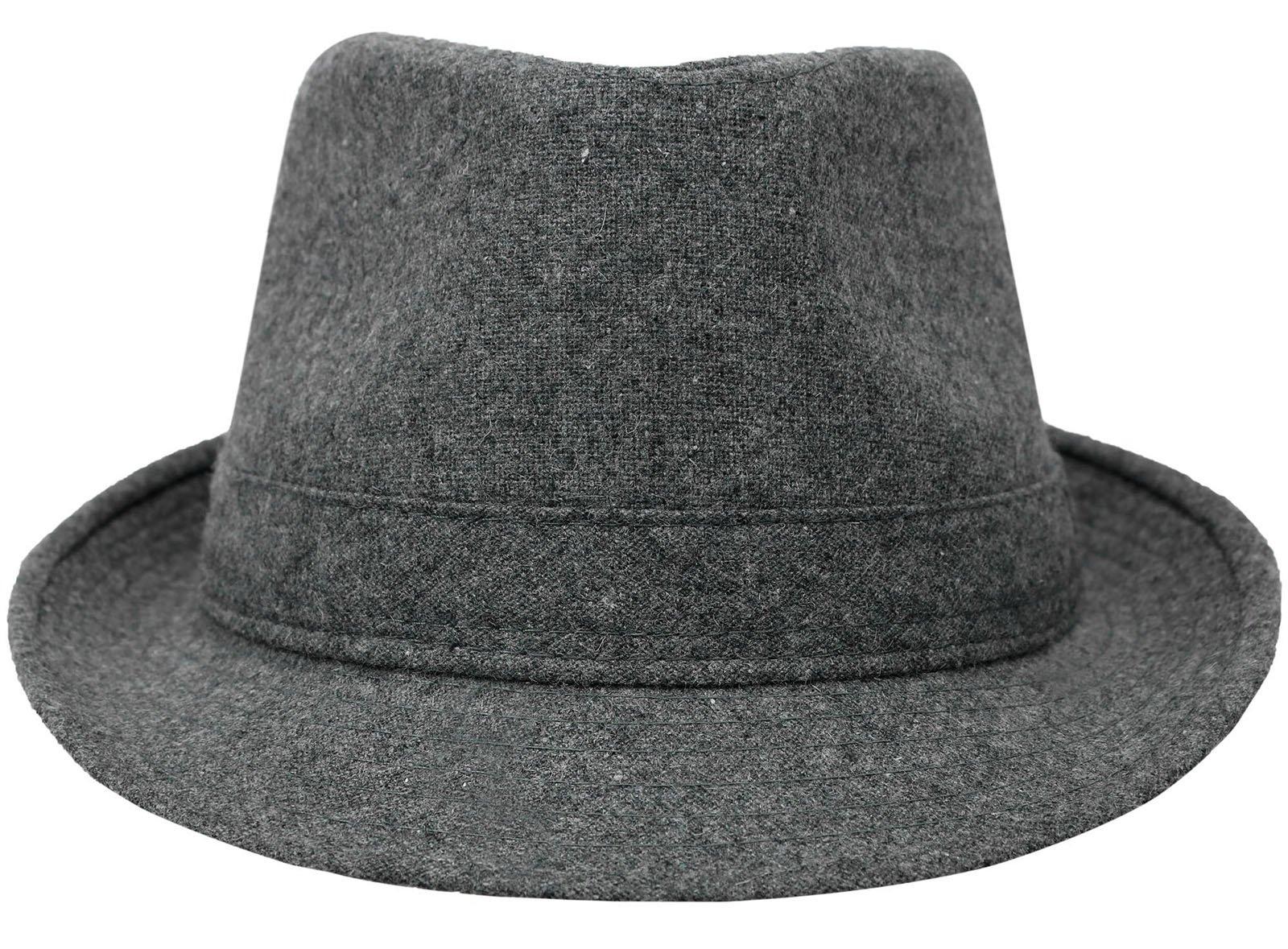 Men / Women's Wool Blend Fedora Hat,C.Grey
