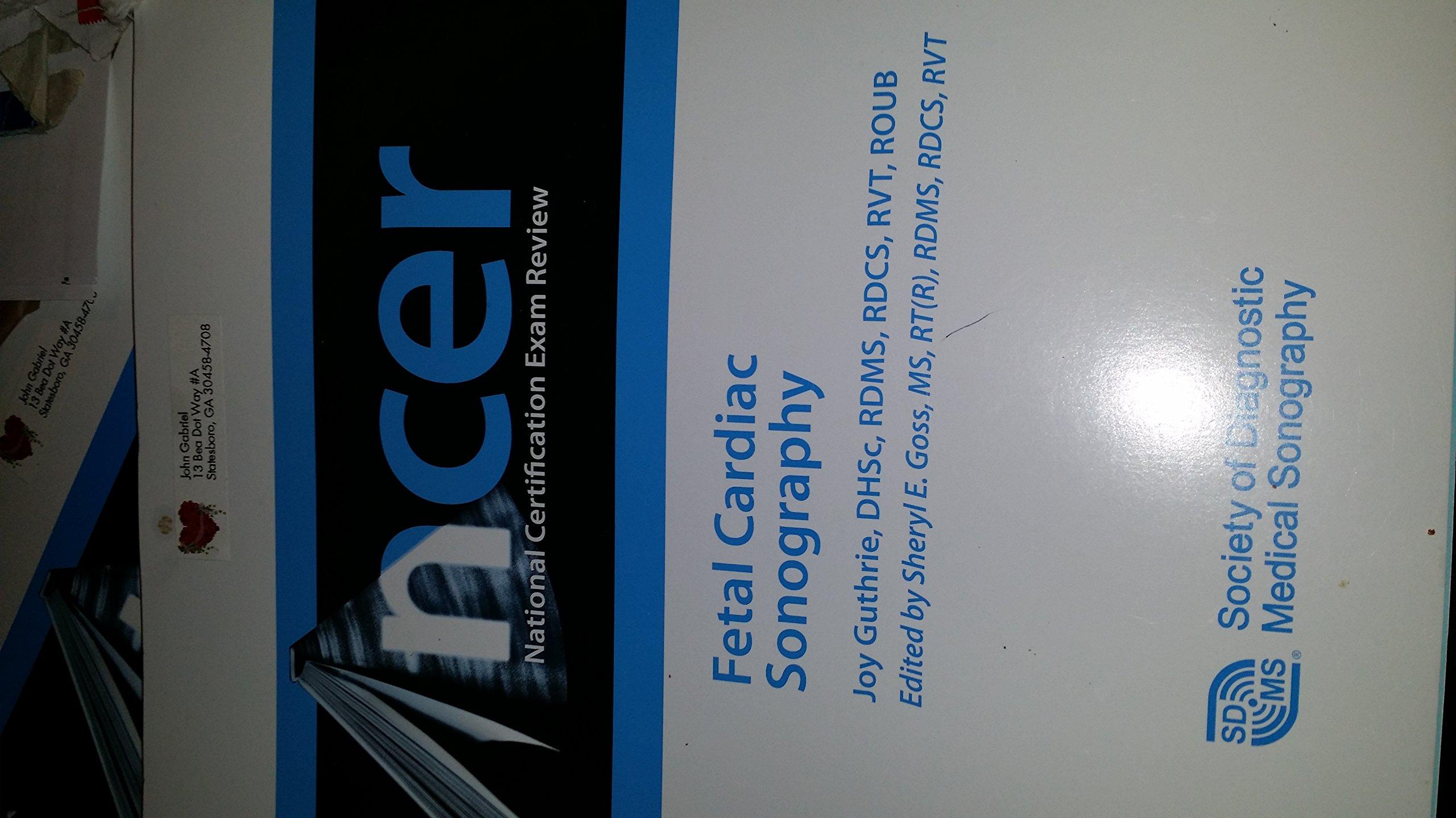 Ncer fetal cardiac sonography cert review joy guthrie ncer fetal cardiac sonography cert review joy guthrie 9781935480068 amazon books xflitez Images