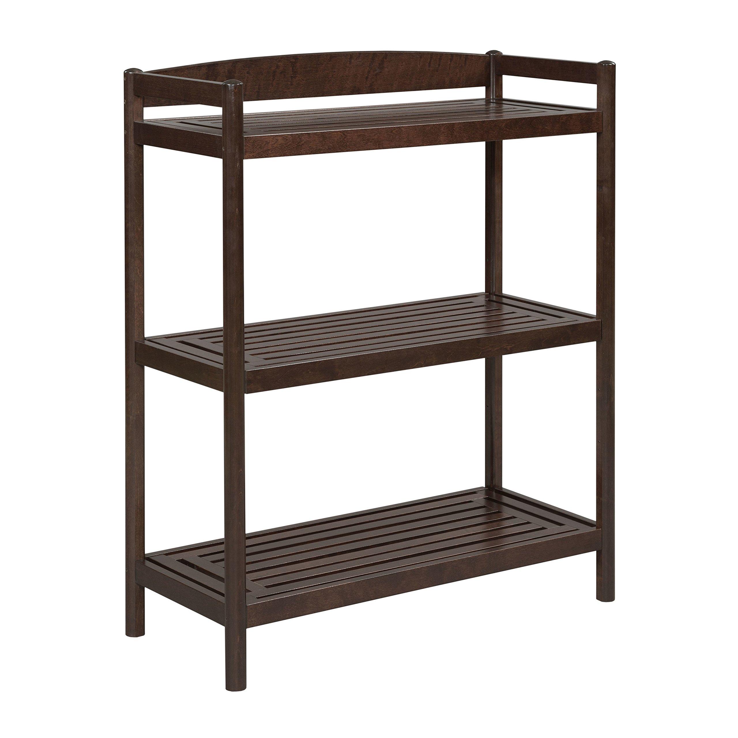New Ridge Home Goods Exmore Bookshelf / Media Console with Adjustable Shelf, Merlot