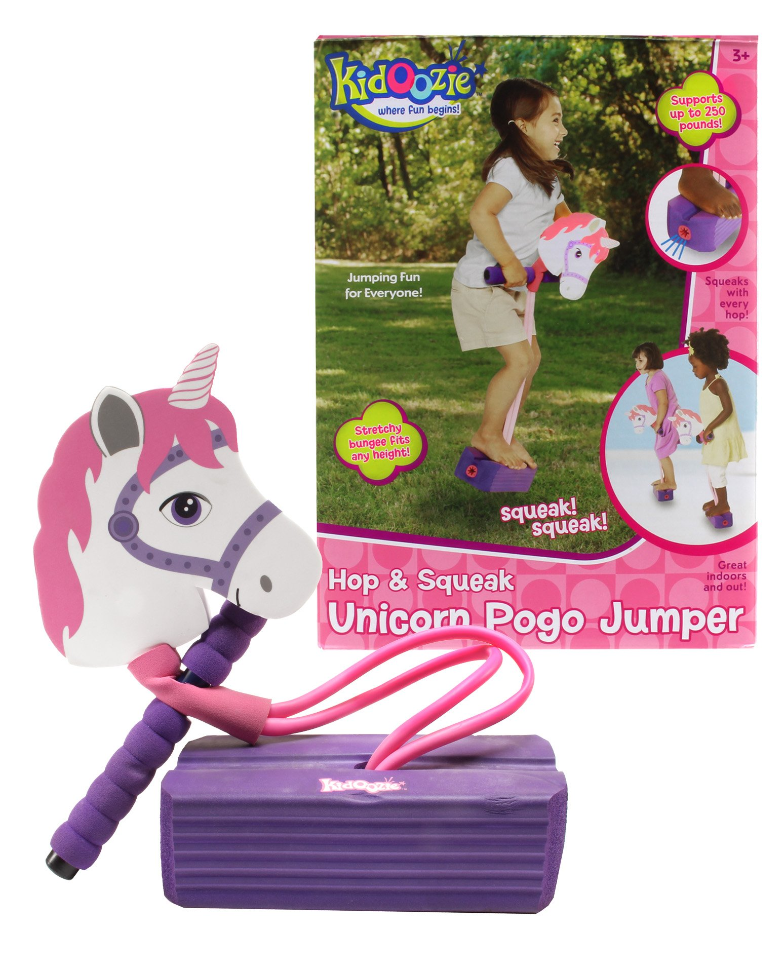 Kidoozie Foam Unicorn Pogo Jumper – Fun and Safe Play – Encourages an Active Lifestyle – Makes Squeaky Sounds – For All Sizes, 250 Pound Capacity by Kidoozie