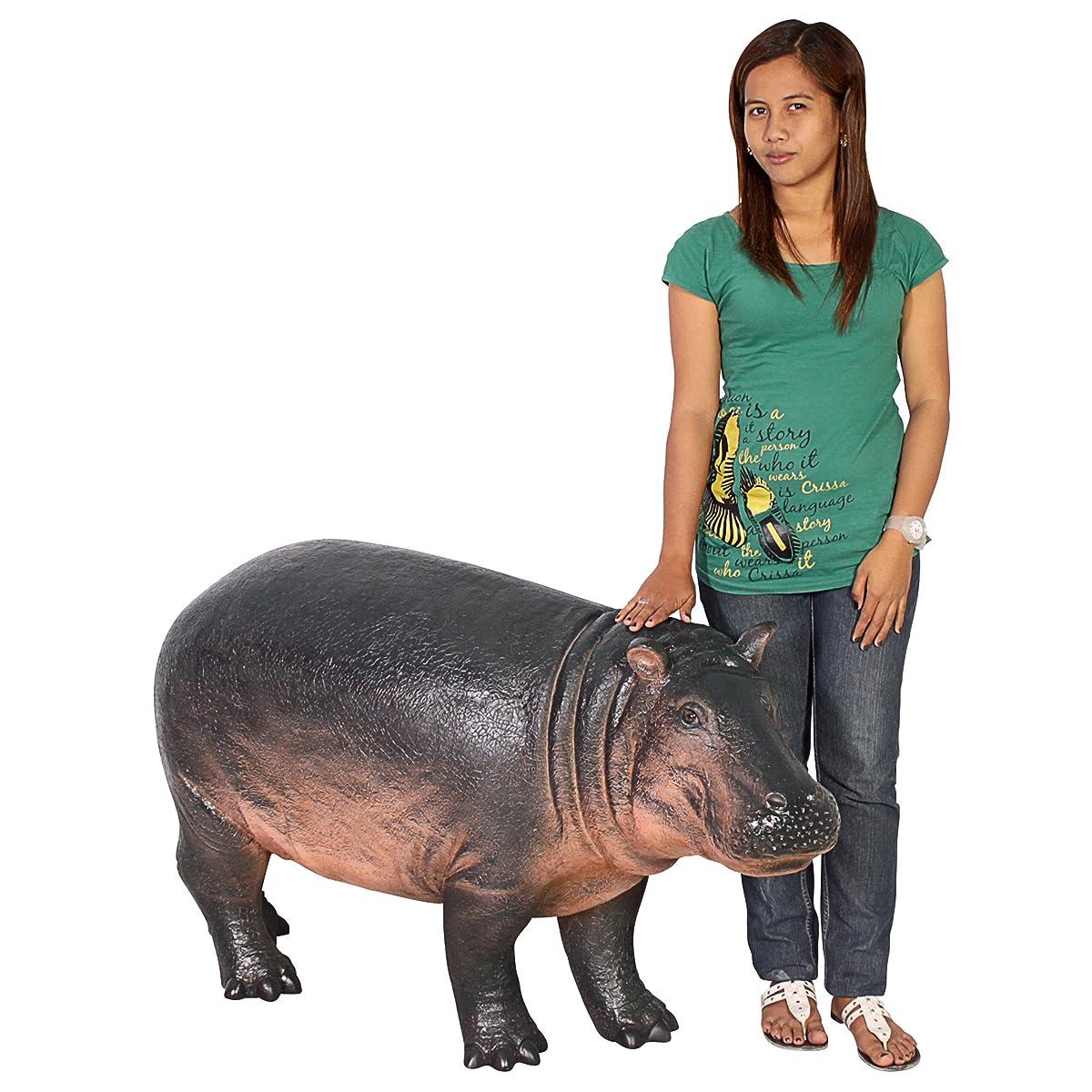 Design Toscano NE110087 Bobo The Baby Hippo Statue, Full Color