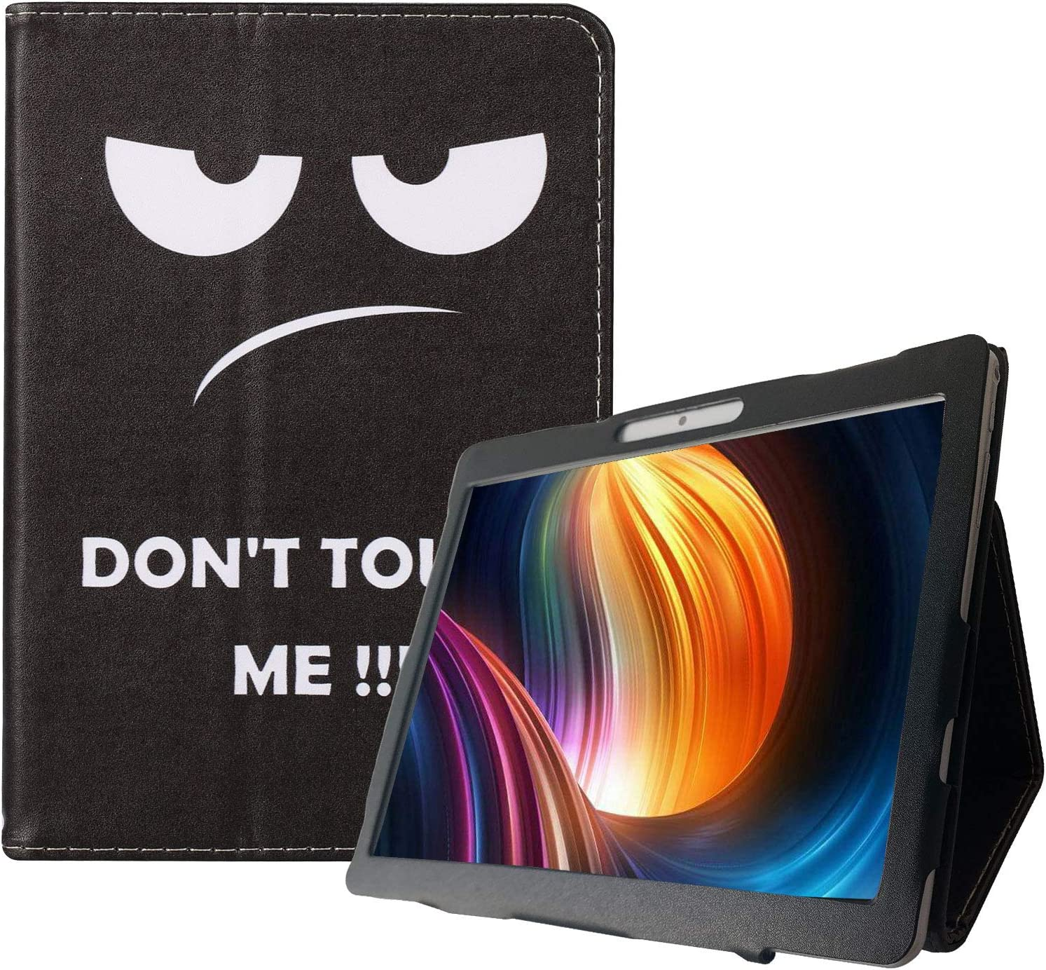 Transwon 10 Inch Tablet Case for Dragon Touch K10/ Max10, ZONKO 10.1 Tablet, Victbing/Winsing/Hoozo/Tabtrust 10.1, Penen/Pavoma 10 Inch Android Tablet, KOOA 10 Inch Tablet, Foren-Tek 10 - Dont Touch