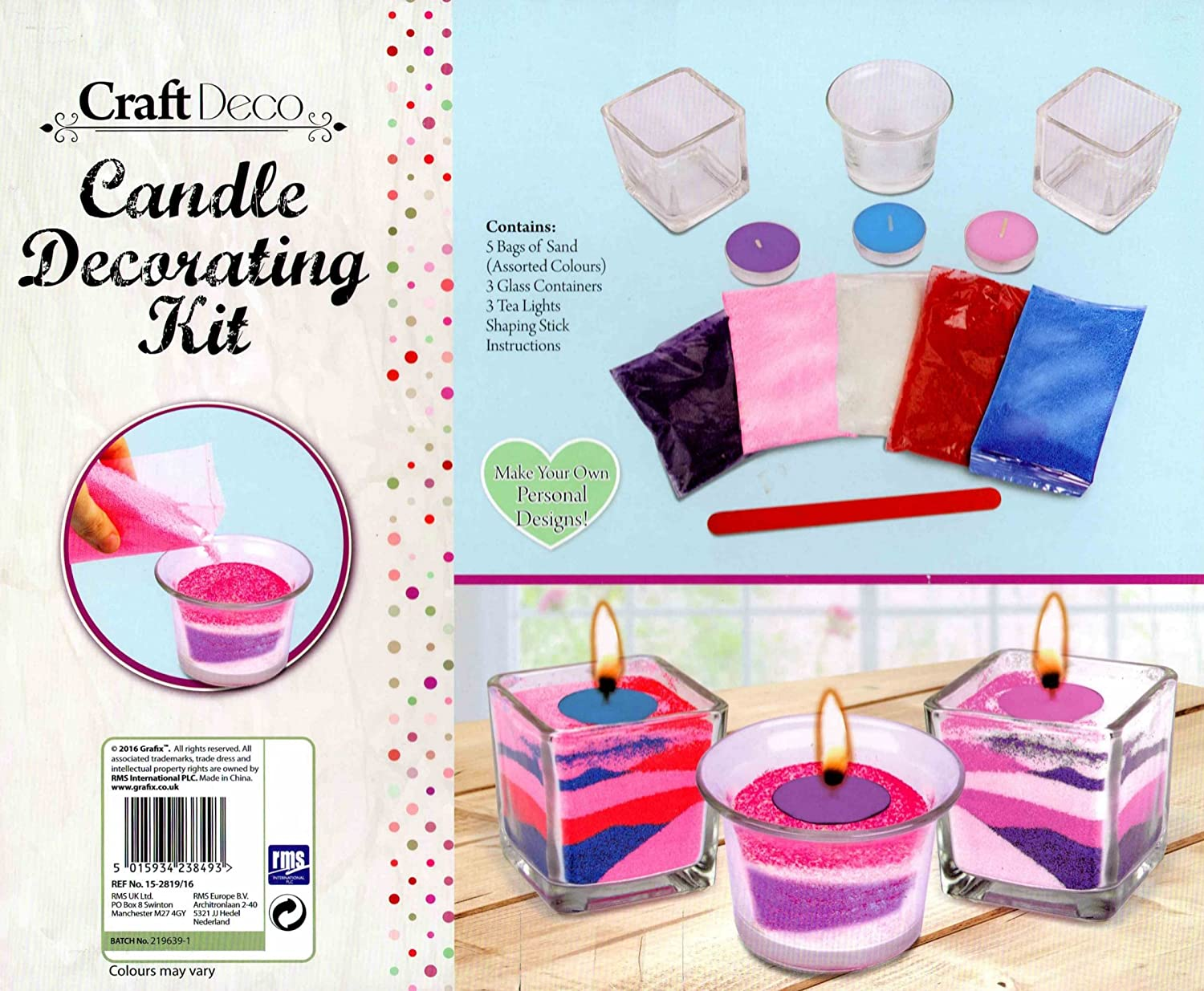 RMS Candle Decorating Kit 15-2819/16