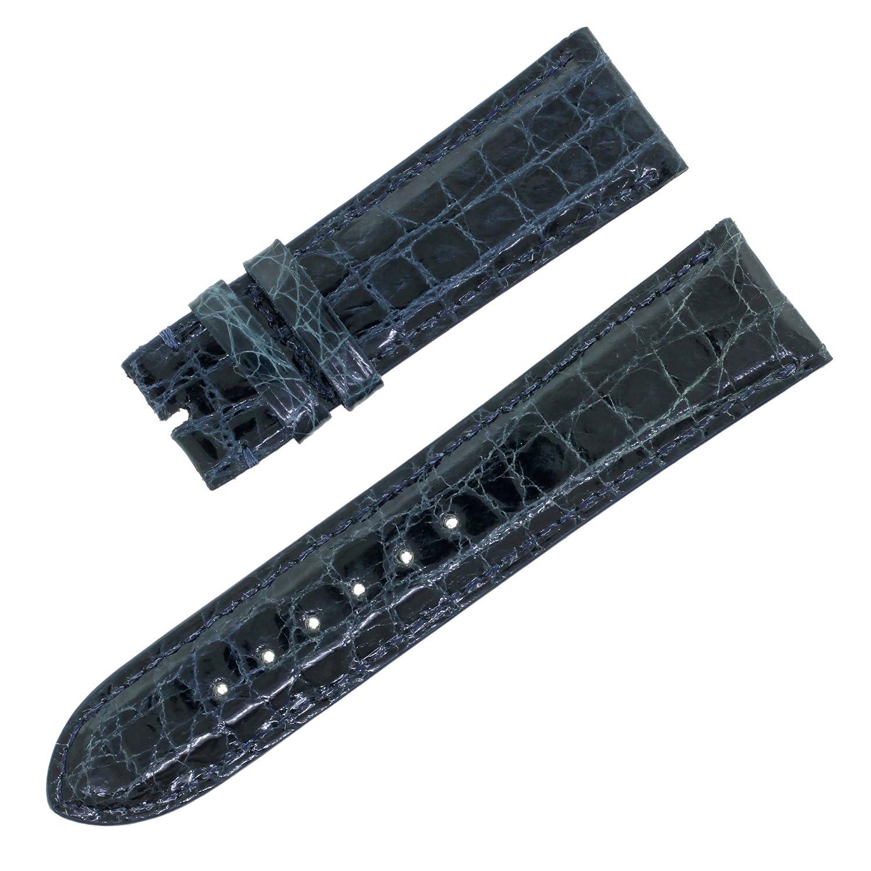 ピアジェ20 – 18 mmレザーネイビーブルーメンズ腕時計ストラップ  B07661XN8D