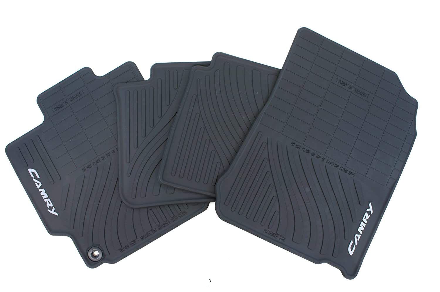 Set of 4 Black Genuine Toyota Accessories PT908-03120-20 Front and Rear All-Weather Floor Mat -