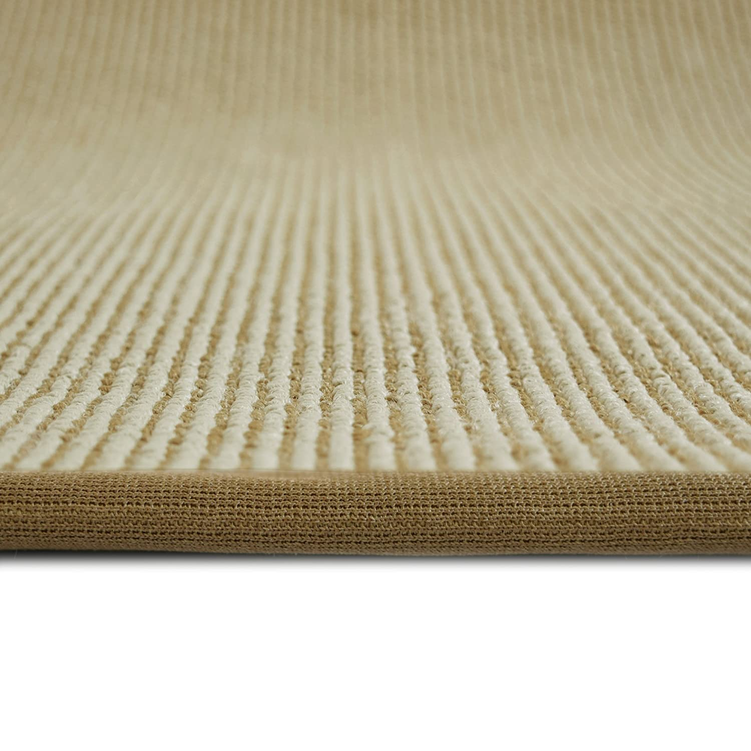 Amazon ICustomRug Zara Contemporary Synthetic Sisal Rug Softer Than Natural Stain Resistant Easy To Clean Beautiful Border In Gold
