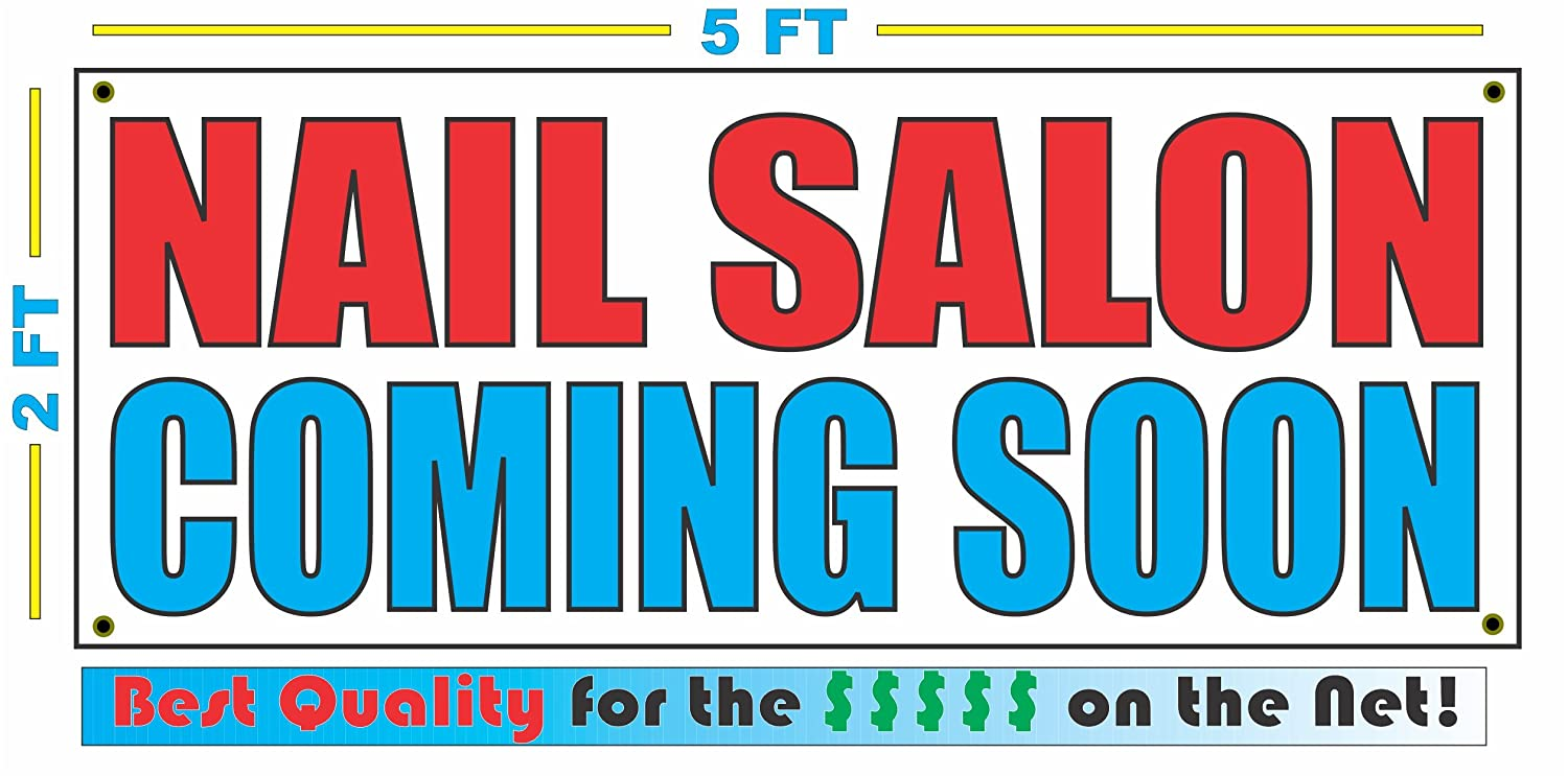 Amazon NAIL SALON COMING SOON Banner Sign Kitchen Dining