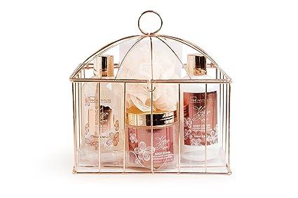 IDC Institute Vintage Rose 5 piezas jaula con productos para baño ...