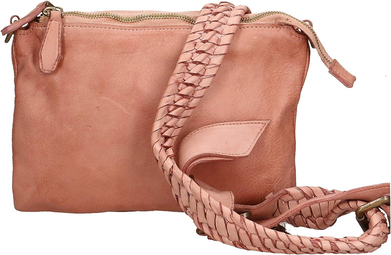 Roberta Rossi embrayage conçu Femme cuir véritable peau Laver sans poignée Fabriqué en Italie 19x26x3 cm RR1001FBLNAT Pink