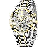 Watches Mens Full Steel Quartz Analog Wrist Watch Men Luxury Brand LIGE Waterproof Date Business Watch