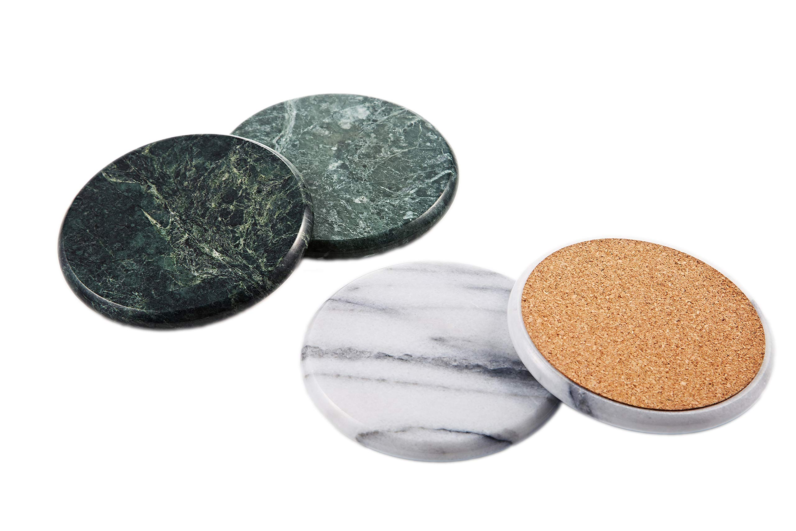 JEmarble Coasters 4pcs(White)(Premium Quality) by JEmarble