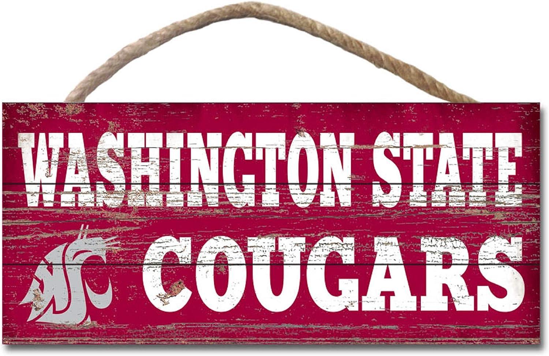 Wood NCAA Legacy Washington State Cougars Wood Plank Hanging Sign 10x5 One Size