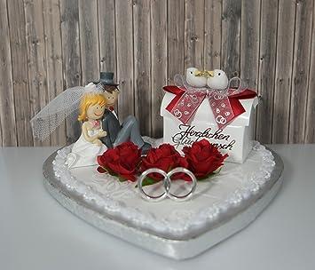 Geldgeschenk Hochzeit Herz Brautpaar Deko Rot Amazon De Kuche