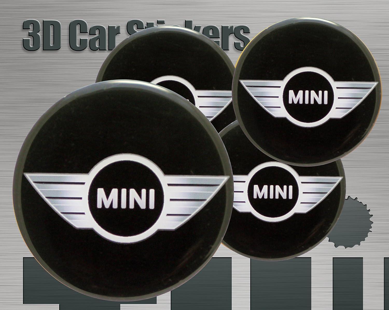 56 mm. 3D Stickers 4 pcs Mini Logo Imitation All size Center Cap Wheel Trims