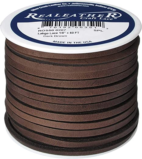 Lace Lacing Leather Topgrain Latigo Chocolate Brown 50 Foot Spool
