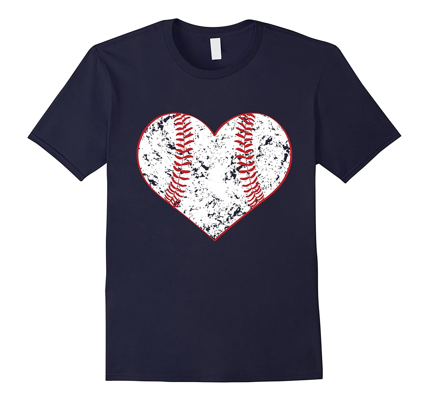 Baseball Heart T Shirt Gift for Softball Mom or Dad Team-TH