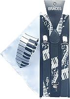 Sock Snob - Bretelles -  Homme Blanc Black White
