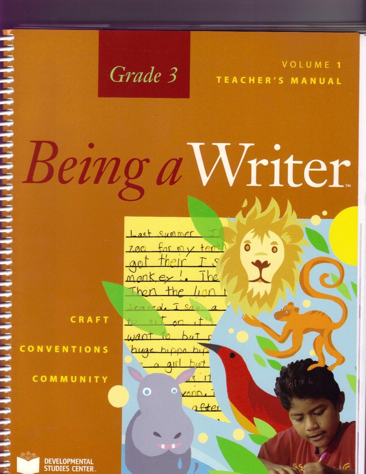 Download BEING A WRITER, GRADE 3, VOL 1, TEACHER'S MANUAL (BEING A WRITER GRADE 3) pdf epub